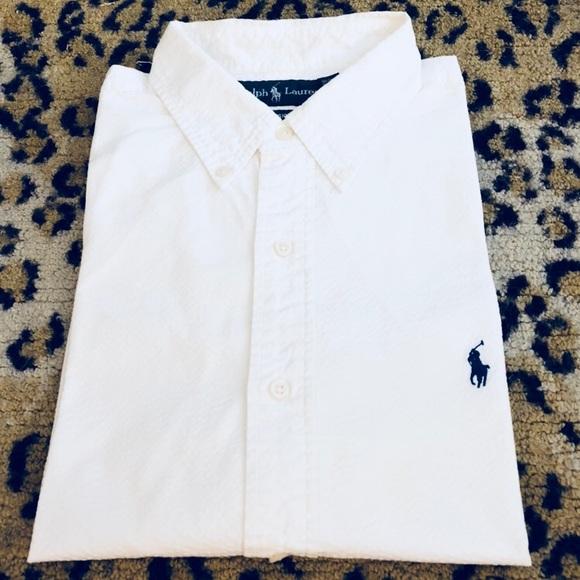 10543f9e3 Polo Ralph Lauren Solid White Seersucker Shirt XL.  M_5ac3f1713b160829188be903